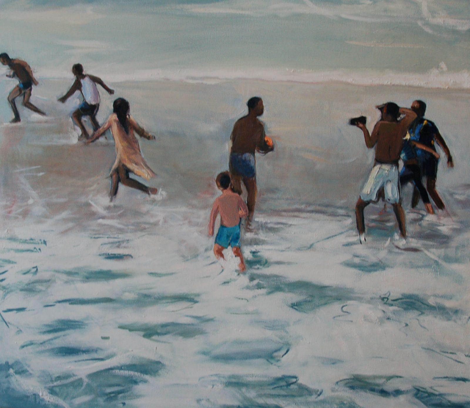 Yolanda encabo, Impuls (Ausschnitt), Öl auf Leinwand, 95 x 110 cm