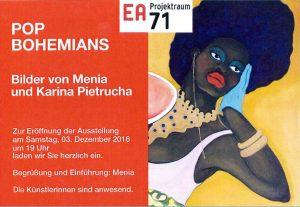 Ausstellung EA71: Menia uns Karina Pietrucha
